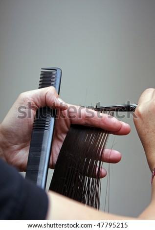 to cut hair - stock photo