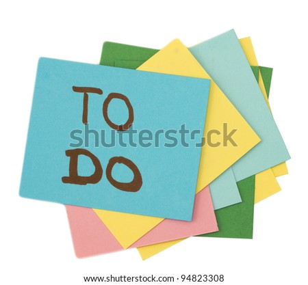 to do list - stock photo