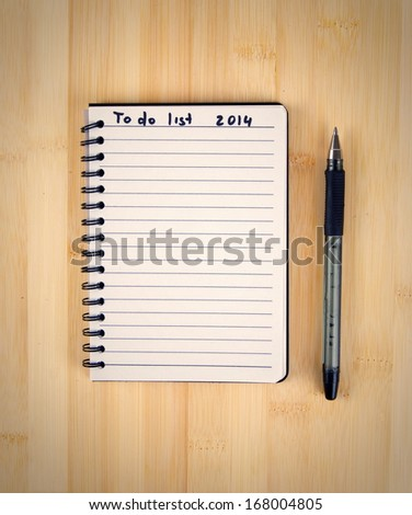 to do list for 2014 new year - stock photo
