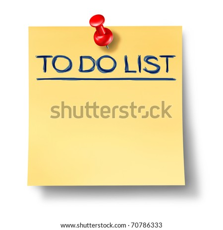 to do list goals office note red thumb tack isolated idea thought