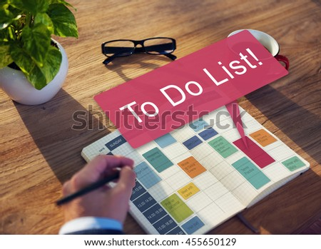 To Do List Memo Task Reminder Ideas Note Concept - stock photo