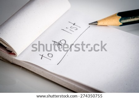 To do list note - stock photo