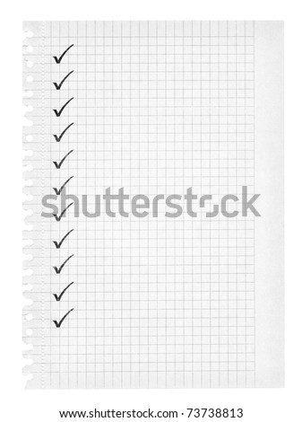 To do list on squared paper, edges are frayed - stock photo