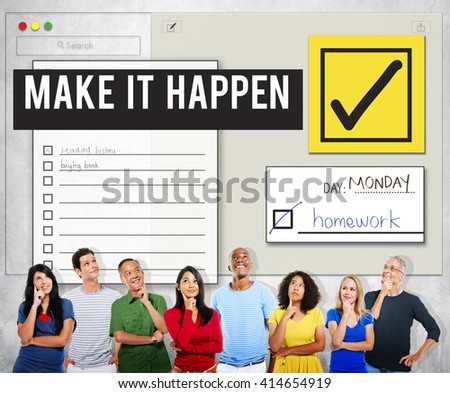 To Do List Organise Checklist Word Concept - stock photo