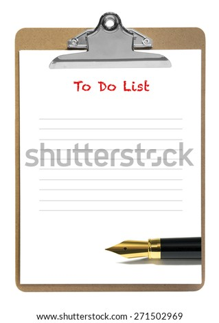 To do list pad isolate  on white - stock photo