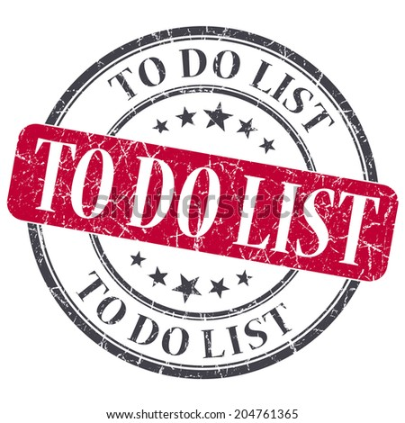 To do list red grunge textured vintage isolated stamp - stock photo