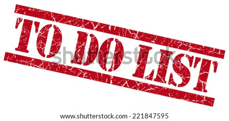 to do list red square grunge textured isolated stamp - stock photo