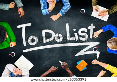 To Do List Resolution Aspiration Organization Management Concept - stock photo