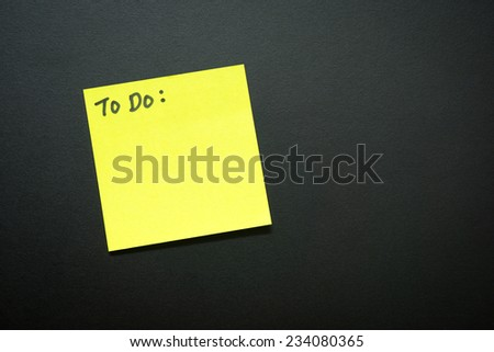 To do list with copy text on black background - stock photo