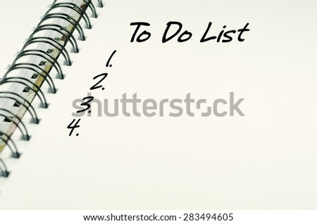 To Do List word on white notebook - Business Concept - stock photo