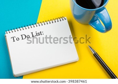 To do list written on notepad with black listing, planning concept - stock photo