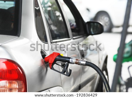 To fill car with fuel - stock photo