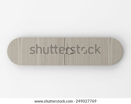 to place two concepts - stock photo