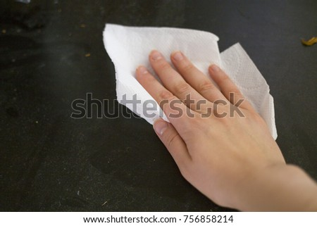 Wonderful To Remove Dust From Furniture With A Paper Napkin