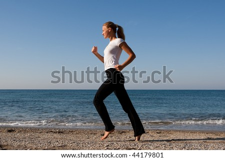 to run on the seashore