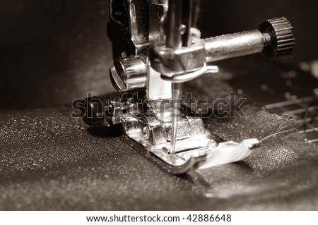 To sew a  material on the sewing machine