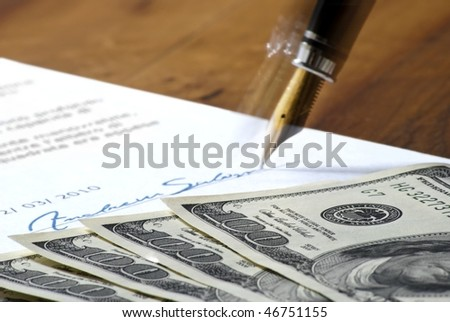 to sign a contract - stock photo