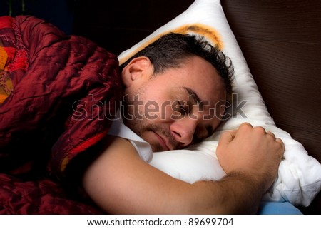 to sleep - stock photo