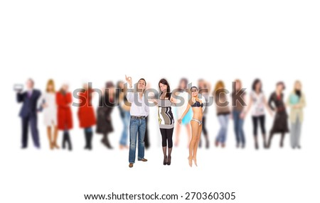 To Stand Out Blurred Background  - stock photo