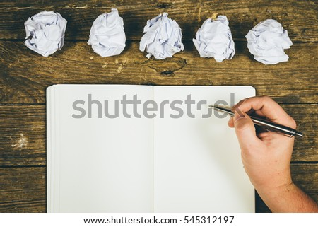 To start writing stories with a lot of Try, waste paper