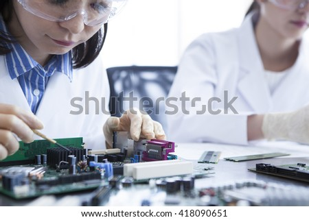 To study together, mutual encouragement, compete together. - stock photo