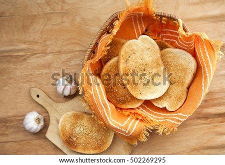 toast bread in a basket