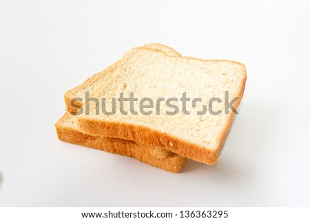 Toast Bread isolated on white