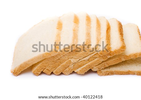 Toast bread isolated over white background