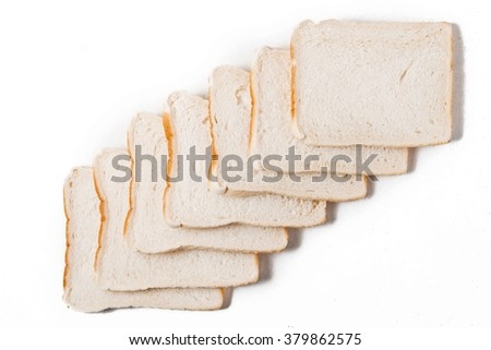 Toast Bread on the white