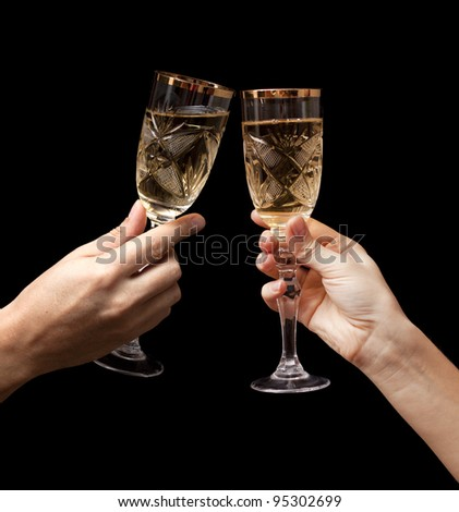 Toast champagne glass