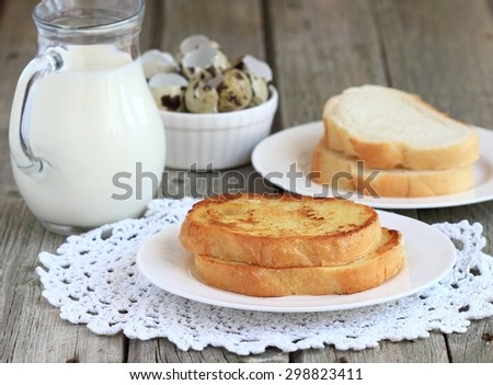 toast with egg and milk