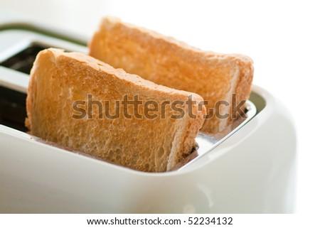 toasted bread - stock photo