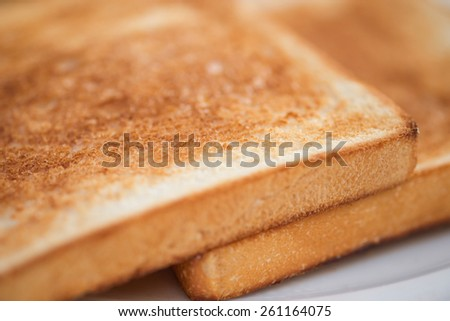 Toasted bread for light meal or breakfast for food background - stock photo