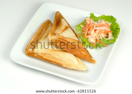 toasted bread with salad