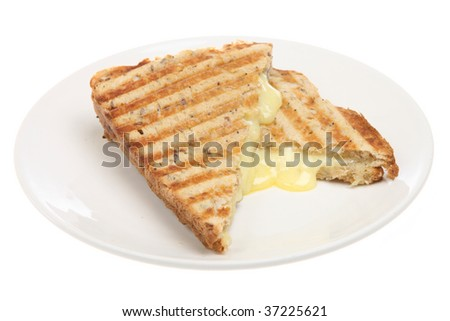 Toasted cheese pressed sandwich - stock photo