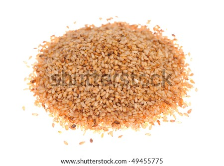 toasted sesame seeds - stock photo
