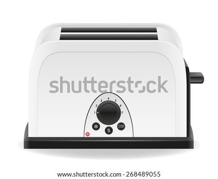 toaster illustration isolated on white background - stock photo