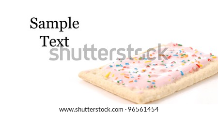 Toaster Pastry with Space for Custom Text - stock photo