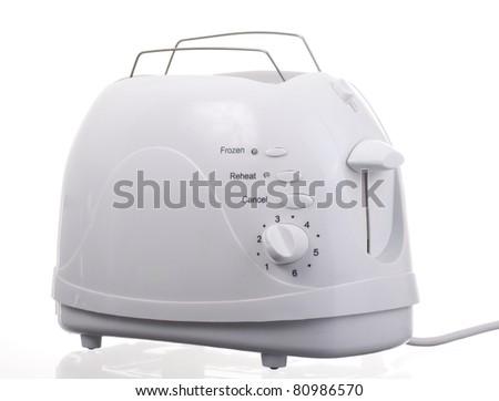 Toaster White - stock photo