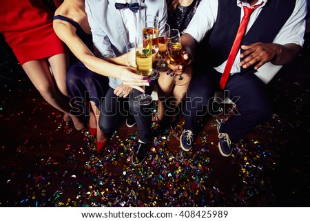 Toasting after party - stock photo