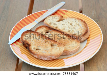 toasts on a plate