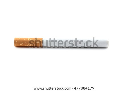 Tobacco cigarette isolated on a white