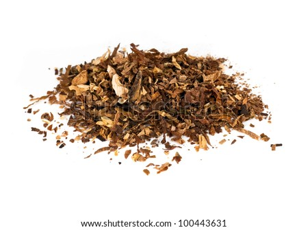 tobacco isolated on white - stock photo
