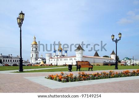 Tobolsk - the Orthodox and cultural center Siberia - stock photo
