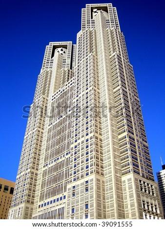 Tocho, Tokyo Metropolitan Government Building - stock photo