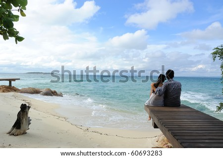 Today we have a time for you and I. and time is stop on the beach - stock photo