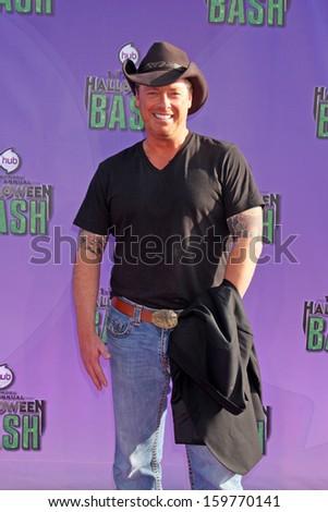Todd Newton at the Hub Network First Annual Halloween Bash. Barker Hangar, Santa Monica, CA 10-20-13 - stock photo