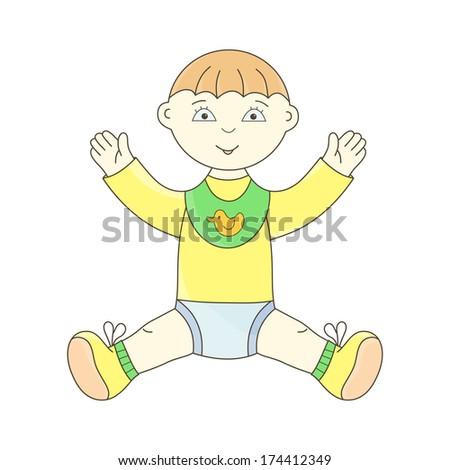 Toddler. Baby boy. Little boy. Cute baby. - stock photo