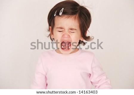 toddler crying - stock photo