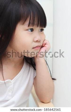 Toddler dreaming away - stock photo